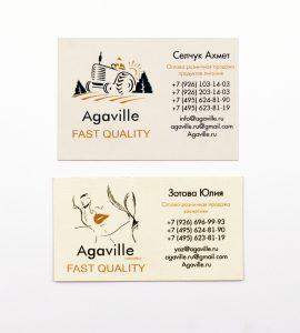 Визитки Agaville
