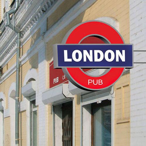 Рекламная вывеска London